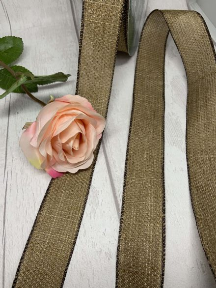 Hessian wire edge ribbon